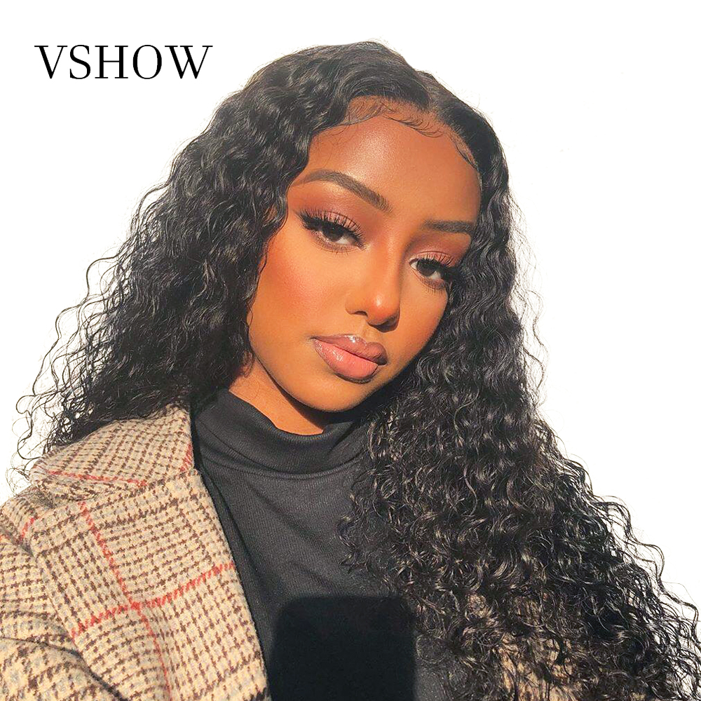 Water Wave Lace Front Wigs 150% 180% 250% Density VSHOW 13*4/13*6 Brazilian Remy Human Hair Pre Plucked 360 Lace Frontal Wig