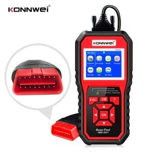 Image 1 - KW850ためOBD2スキャナeodb can自動スキャナーワンクリックアップデート車の診断スキャンツールバッテリーテスター8言語SK1803
