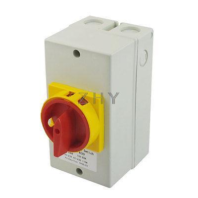 Verrouillage AC 690V 63A 11KW 2 positions Cam combinaison interrupteur de commutation w boîtier de montage