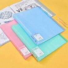 חדש הגעה 40 60 דפים A3 קובץ תיקיית ציור נייר ארגונית אחסון תיק מסמך גיליון מגיני תצוגת ספר מכתבים