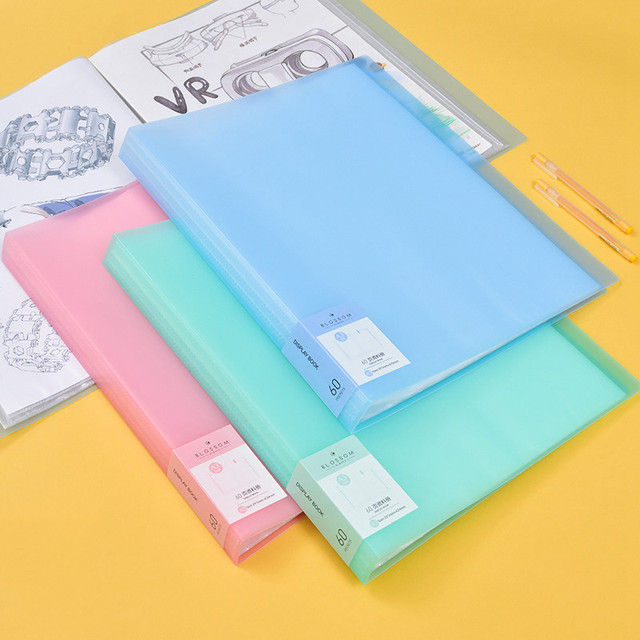 New Arrival 40 60 Pages A3 File Folder Painting Paper Organizer Storage Bag Document Sheet Protectors Book Display Stationery