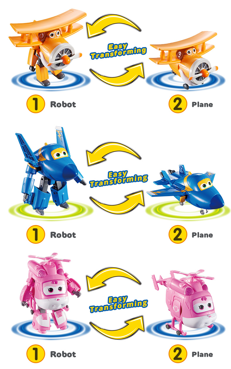 Super Wings Transforming 5 inch Airplane Robots 10