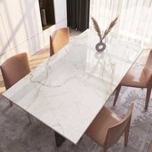 Soft Glass Tablecloth Coffee-Table-Mat Marble Home-Decor PVC Nordic Tasteless Upgrade