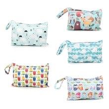 Handbag Diaper-Bag Nappy Stroller Storage-Pocket Carry-Pack Travel Printed Wet Zipper