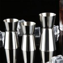 15/30ml ou 25/50ml de aço inoxidável cocktail shaker medida copo duplo tiro bebida espírito medida jigger cozinha gadgets
