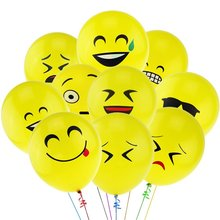 10pcs/lot 12inch Emoji Smiley Face Balloons Latex Wedding Inflatable Air Balls Happy Birthday Party Decorations Kids Ballon Toys