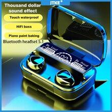 JTKE M10 TWS Wireless Headphones Bluetooth V5.1 Earphones 9D Stereo Sport Earbuds Waterproof Headsets 3500mAh Charging Box PK F9