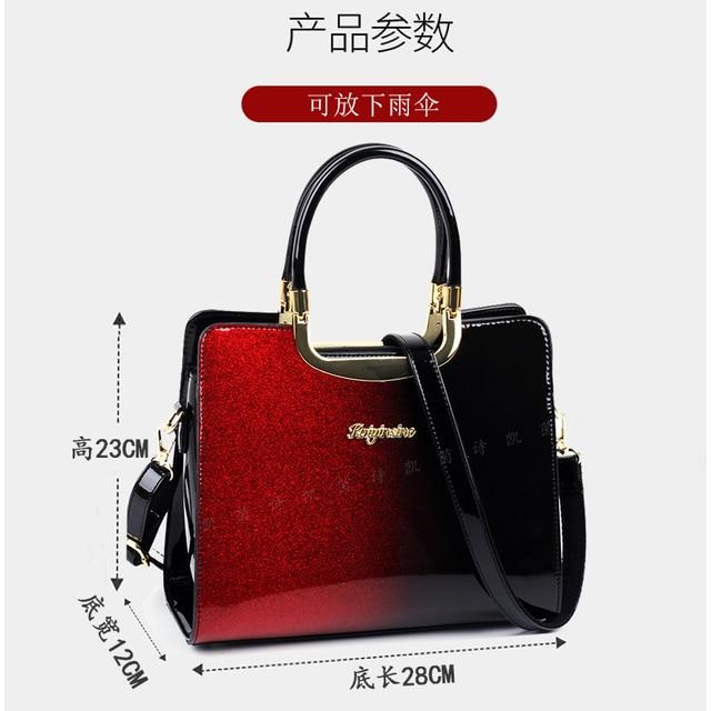 Moda feminina bolsa de couro de patente bolsas e bolsas de luxo bolsas de ombro sacos crossbody bolsa feminina para mulher 2021 5