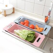 Регулируемая телескопическая Бытовая кухонная раковина для фруктов, зеленых овощей, корзина для очистки, пластиковая корзина, чаши и палочки для еды Stora