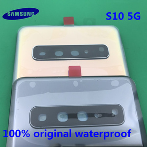 Image 3 - Originele Terug Batterij Cover Samsung Galaxy S10 G977 G977F 5G versie Achter Deur Behuizing Glas Panel Vervanging Deel + GEREEDSCHAP