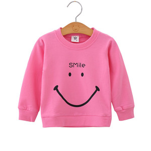 Cute Baby Girl Pink Sweatshirt 1-6Yrs Autumn Winter Long Sleeve Keep Warm Girls Coat for Birthday Party Baby Girl Clothes(China)