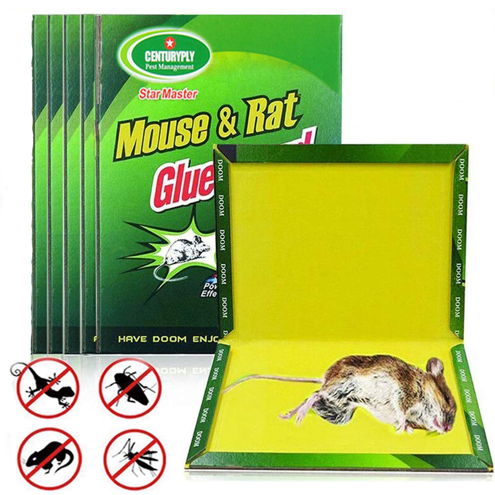 5PCS Mouse Glue Trap Mice Board Sticky High Effective Rodent Rat Snake Bugs Catcher Pest Control Reject Non-toxic Eco-Friendly