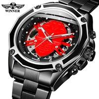 2019 New Mechanical Men Watches Forsining Role Luxury Brand Skeleton Wrist Sapphire Waterproof Watch Men Clock Male reloj hombre