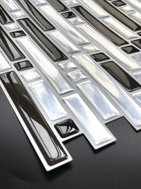 3D Mosaic Self Adhesive Tile Backsplash Wall Sticker Vinyl  Decal Bathroom Kitchen Home Decor DIY 3