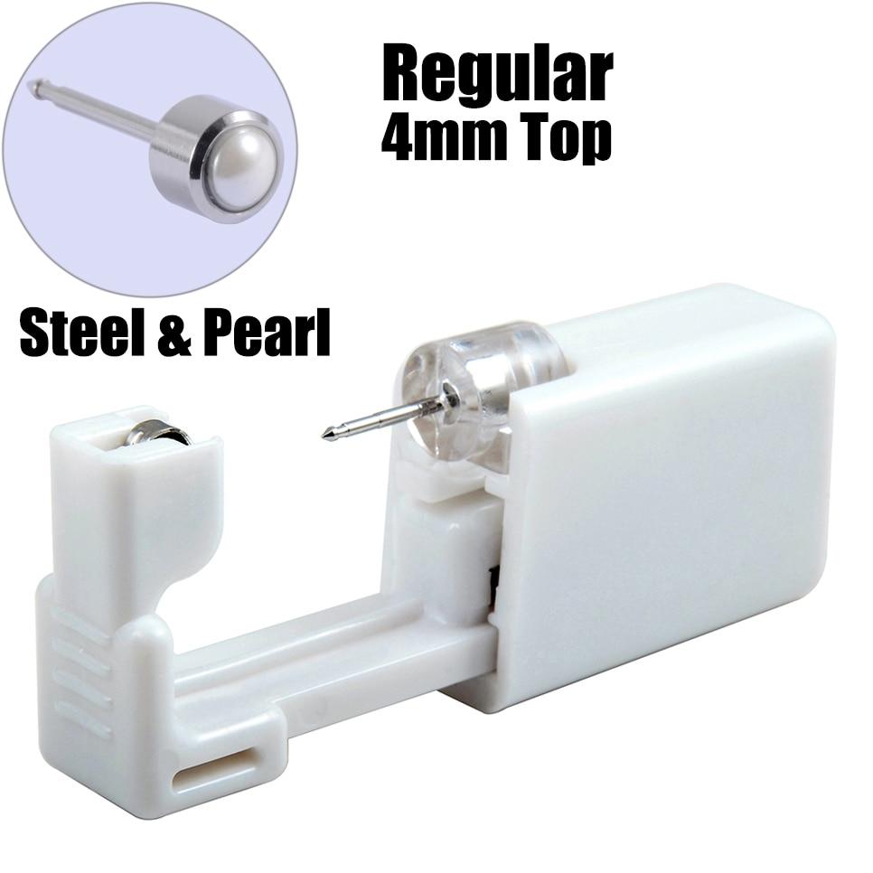 1PC Disposable Sterile Ear Piercing Unit Cartilage Tragus Helix Piercing Gun NO PAIN Piercer Tool Machine Kit Stud Ball Earrings 4