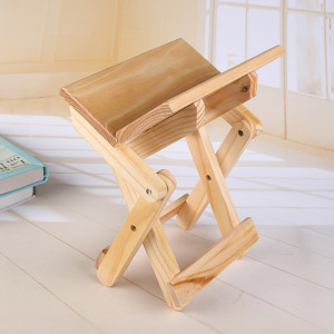 Image 3 - COSTWAY Portable Simple Wooden Folding Stool Outdoor Fishing Chair Small Stool W0169