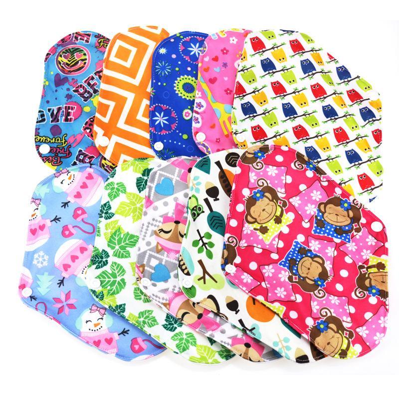Washable Sanitary Napkin For Women Reusable Sanitary Napkins Cotton Menstrual Towel Bamboo Cotton Soft Feminine Adult Diapers