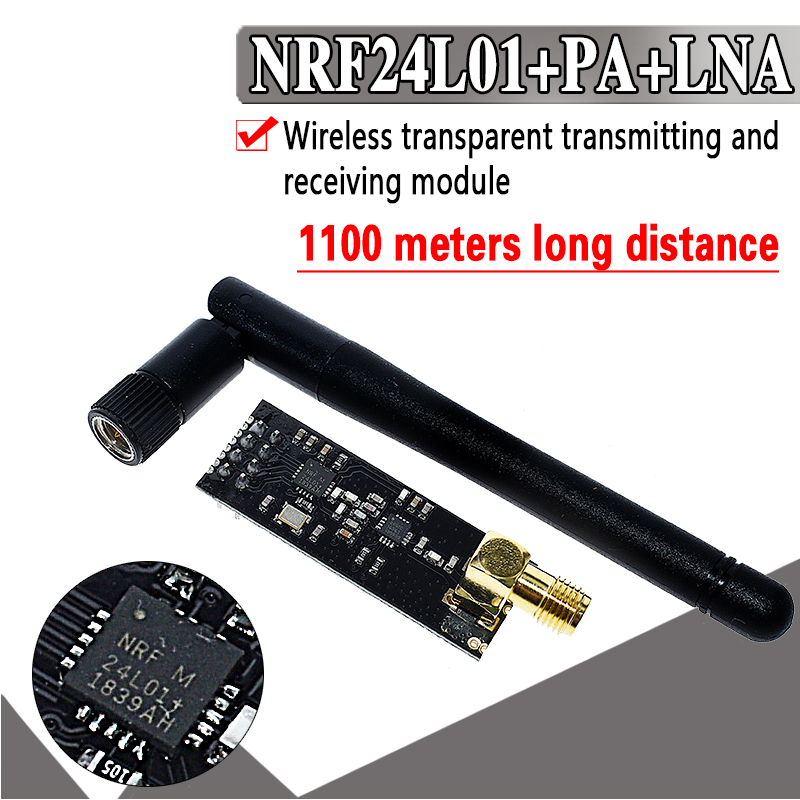 Специальные акции 2,4G беспроводные модули 1100 метров междугородние NRF24L01 + PA + LNA беспроводные модули (с антенной)