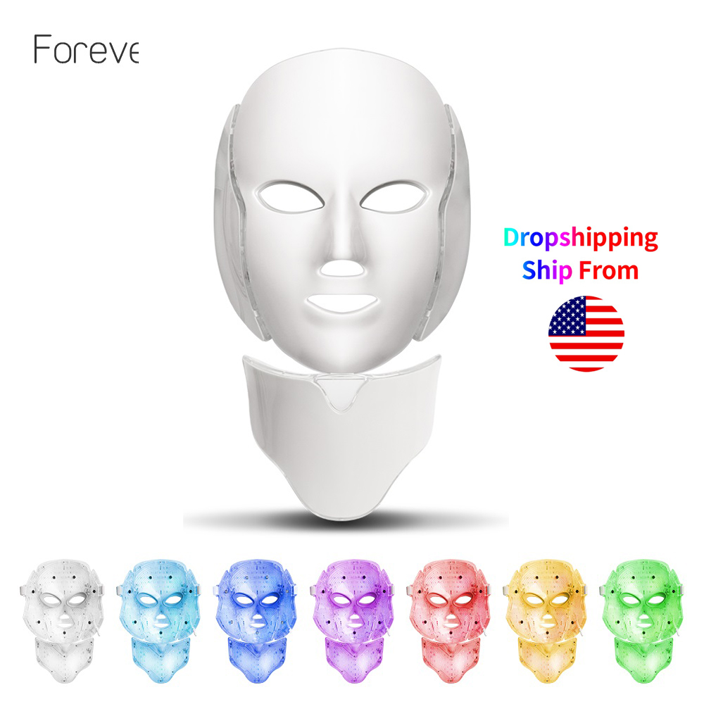LED Mask For Face Neck EMS Micro-current Anti Wrinkle Acne Removal Skin Rejuvenation Electric Facial Beauty Machine(China)