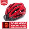 Victgoal capacetes de bicicleta led das mulheres dos homens esportes polarizados óculos de sol luz traseira mtb mountain road ciclismo capacetes 8