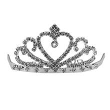 Strass Sposa Diademi queen Principessa Pageant Crown Wedding Nuziale Diadema Monili Dei Capelli Accessori(China)