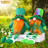 2pcs Green Gnome Doll St. Patrick's Day Irish Clover Embroidered Saint Patricks Day Table Decor Spring Decoration 6