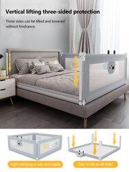 Barandilla para cama anticaídas para niños, valla resistente a los golpes para bebés, valla de cama deflectora universal 3 uds