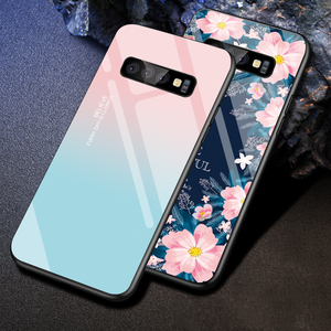 Image 4 - Gehard Glas Case Voor Samsung Galaxy S10 S9 S8 S20 Plus S10e S20 Ultra A51 A50 A71 A70 Shockproof Ster ruimte Gradiënt Cover