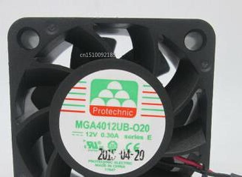 For Protechnic MGA4012UB-O20 DC 12V 0.30A 40x40x20mm Server Cooler Fan Free Shipping