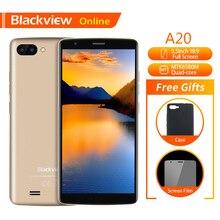 "Blackview orijinal A20 Smartphone 5.5 ""1 GB + 8GB MTK6580M dört çekirdekli Android gitmek 18:9 ekran 3G çift SIM moda ince cep telefonu telefonu"