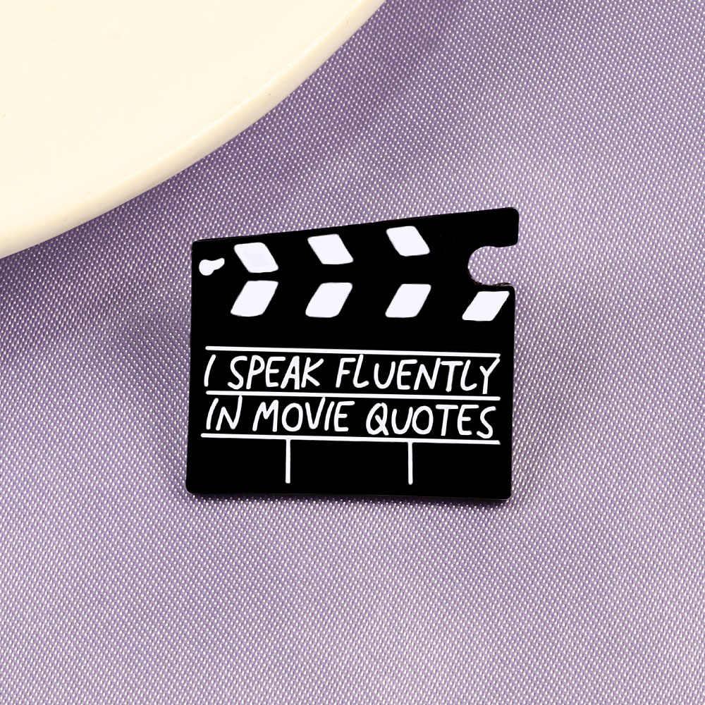 Broche de solapa para mujer, insignia, joyería, esmalte, pin, habla con fluidez en la película, citas, botón, chaquetas de mezclilla, bolso, joyería, mejores amigos