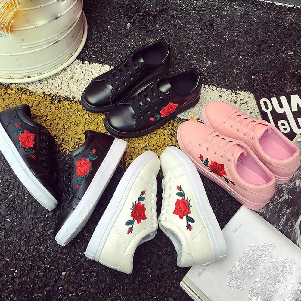2019 mujeres de moda vulcanizan los Zapatos casuales Zapatos mujer plataforma señoras Zapatos Zapatillas Tenis Femenino de talla grande 40 #3