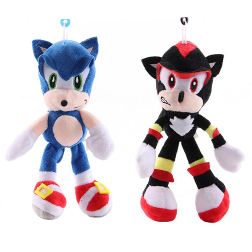Sonic The Hedgehog Shadow Blue Sonic Tails Plush Toy Stuffed Figure Doll Gift