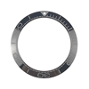 New 41.5mm High Quality Ceramic Bezel Insert For Diver Watches Sea master Ocean Style Black with Lumed pip