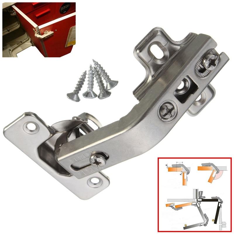 Permalink to 2pcs Door Hinges 165 Degrees Plate Screws Set Kitchen Cabinet Accessories Tools Home Garden Supplies