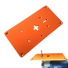 Aluminum Electric Jig Saw Flip Board Router Table Insert Plate for Jig Saw Woodworking Work Benches cheap FNICEL