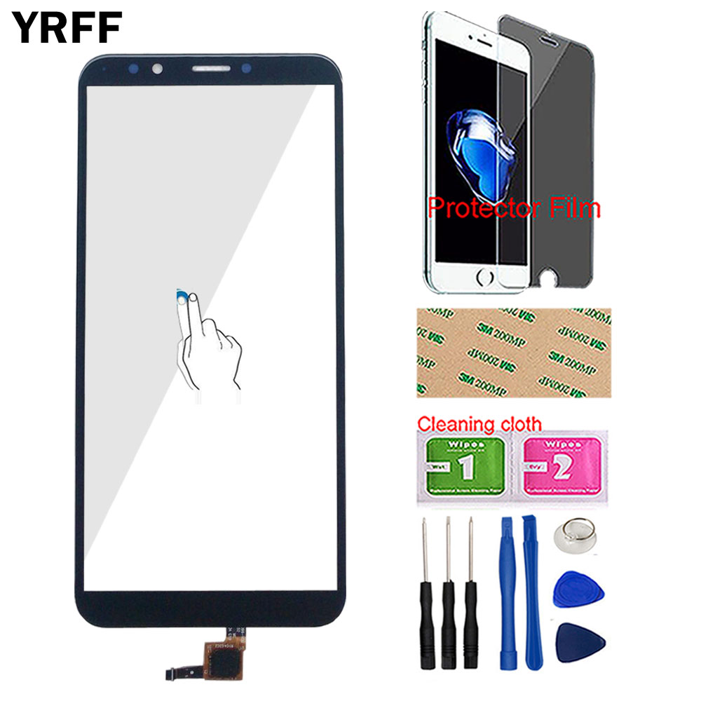 Touch Screen For Huawei Y7 2018 Y7 PRIME 2018 Y7 Pro 2018 Touch Screen Digitizer Panel Sensor Outer Glass Tools Protector Film