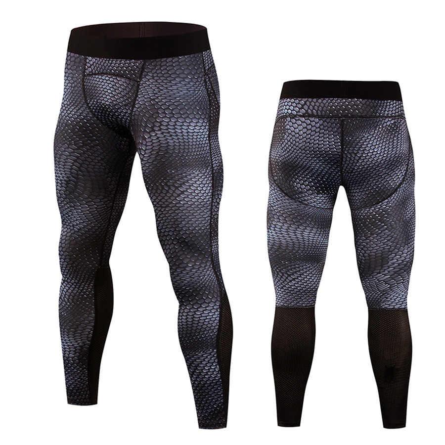 男性圧縮パンツスポーツレギンスフィットネススポーツウェアズボンヘビジムトレーニングパンツスキニーレギンスhombre