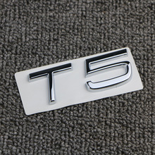цена на For VOLVO C70 C30 S60 XC90 XC60 V60 V40 S80 T5 T6 2.0T 2.5T AWD  Car Rear Boot Trunk Lid Letters Badge Emblem Logo Car styling
