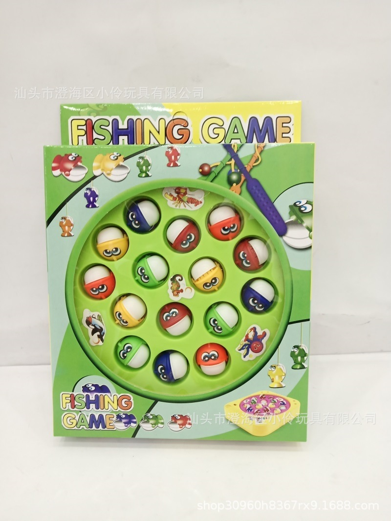 New Products Educational Model Fishing Toys Children Play House Electric Music Rotating Fishing Plate Toy