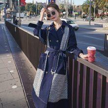 Новая женская ветровка пальто весна осень средней длины тонкое