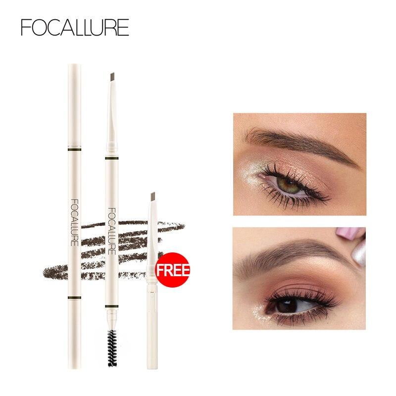 FOCALLURE Artist Sketch Eyebrow Pencil Waterproof Natural Long Lasting Eye Makeup Eye Brow Tint 4 Color Brows Makeup