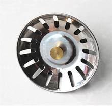 Mutfak paslanmaz çelik evye süzgeci atık Disposer tak tahliye tapası filtre sepeti aracı 1 adet
