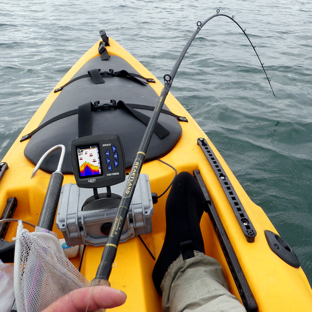 LUCKY FF918-180S Wired Fishfinder 540ft/180m Depth Sounder Fish Detector Monitor echo sounder for fishing from a boat 4