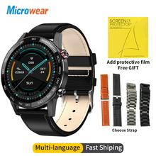 2020 nowy Microwear L16 inteligentny zegarek dla mężczyzn ekg ciśnienie krwi zegarek sportowy 360 * 360IPS IP68 wodoodporny VS L13 L15 SmartWatch tanie tanio CN (pochodzenie) Android OS Na nadgarstku Wszystko kompatybilny 128 MB Passometer Fitness tracker Uśpienia tracker