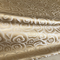 Cheongsam Chinese Style Dress Antique Gold Clouds Yarn Dyed Song Dynasty Silk Brocade Jacquard Fabric