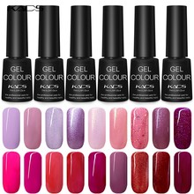 KADS 7ML Nail Polish Lacquer Top Base Coat UV LED Lamp Soak Off Nail Art Manicure Pure Color Healthy Gel Semi Permanent(China)