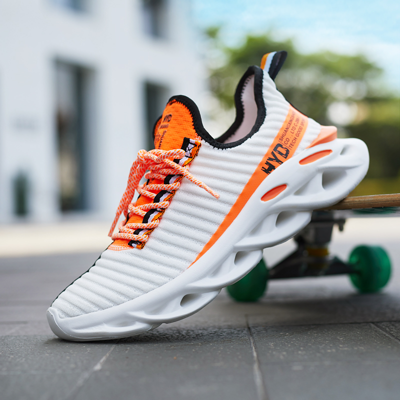 Summer <font><b>Trend</b></font> Style <font><b>Men's</b></font> Casual Shoes 2020 New <font><b>Fashion</b></font> Breathable Mesh Light Personality <font><b>Sneakers</b></font> Flying Weaving Tenis Masculino image