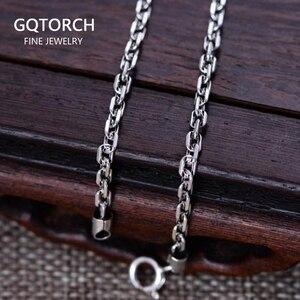 """Image 1 - Gerçek 925 ayar gümüş 3mm dikdörtgen Link zinciri kolye 18 """"20"""" 22 """"24"""" 26 """"güzel takı"""