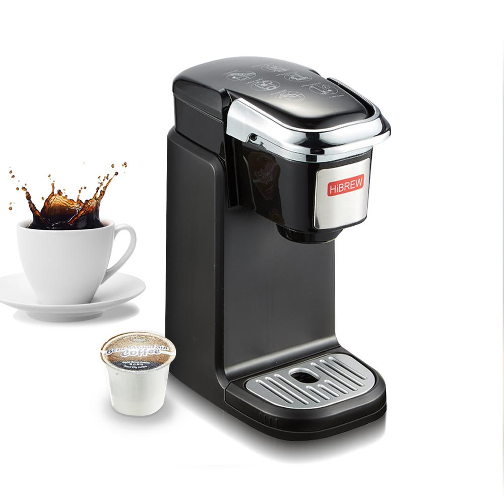 HiBREW Single Serve K Cup Coffee Maker Brewer For K-Cup Pod & Ground Coffee, Compact Size Designed For Portable
